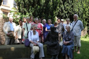 The group beside St Edmund statue by Rodney Mundey