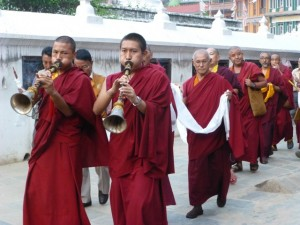 Monks Trumpeting