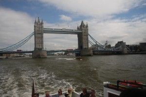 Tower bridge seen from our riverboat