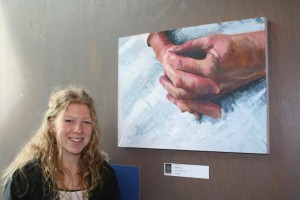 Leah with her winning work