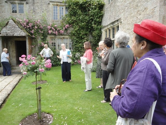 Kelmscott Manor Group and roses
