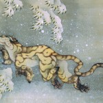Tiger in a snow storm.  By Hokusai (1760 _ 1849)