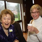 Dorothy Whittington and Carol Parkin sharing a joke